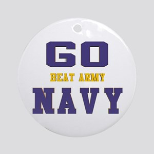 Go Navy, Beat Army! Round Ornament